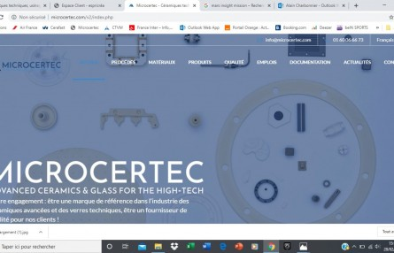 NEW WEB SITE FOR MICROCERTEC AND CERAFAST