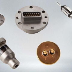 Glass-to-metal feedthroughs & connectors